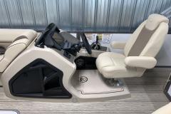 Raised Select Helm of the 2021 Premier 230 Solaris RL Tritoon Boat