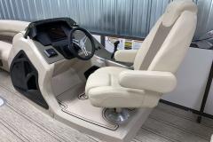 Helm of the 2021 Premier 230 Solaris RL Tritoon Boat