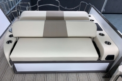 Dual Facing Rear Bed Position of the 2021 Premier 230 Solaris RL Tritoon Boat
