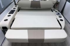 Rear-Facing Rear Bed Position of the 2021 Premier 230 Solaris RL Tritoon Boat