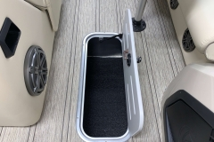 Sub Floor Ski Locker of the 2021 Premier 230 Solaris RL Tritoon Boat