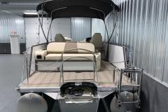Rear Swim Deck of the 2021 Premier 230 Solaris RL Tritoon Boat