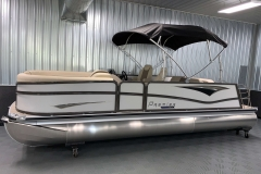"25"" Outside Logs of the 2021 Premier 230 Solaris RL Tritoon Boat"