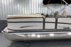 Granite DURA RAILS on the 2021 Premier 230 Solaris RL Tritoon Boat