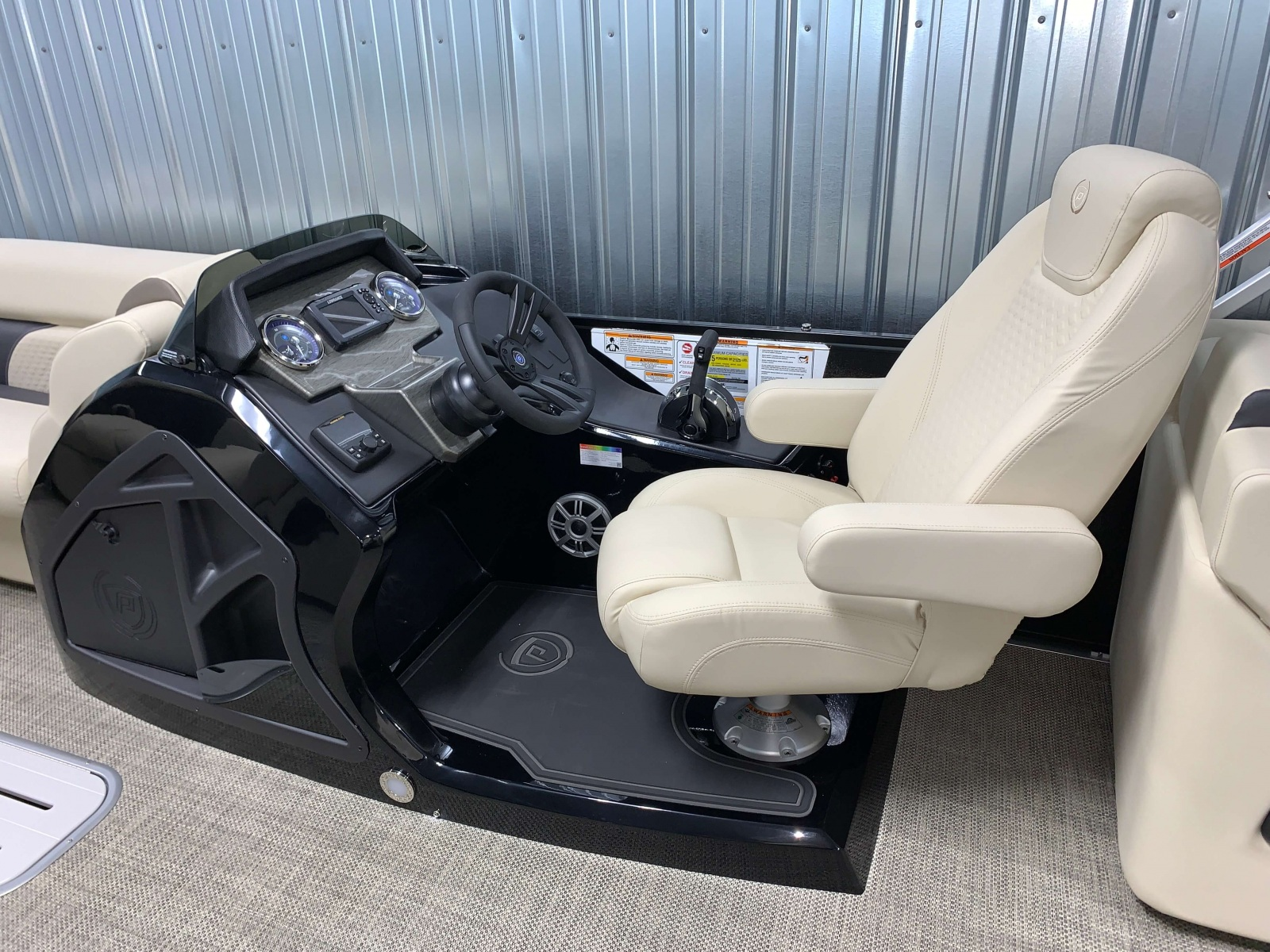 Signature Helm of the 2021 Premier 230 Sunsation RF Tritoon Boat