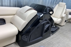 Helm Storage of the 2021 Premier 230 Sunsation RF Tritoon Boat
