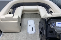 Portable Filler Couch on the 2021 Premier 230 Sunsation RF Tritoon Boat