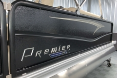 Midnight Rails of the 2021 Premier 230 Sunsation RF Tritoon Boat