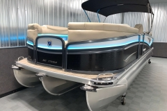 Bow Swim Deck of the 2021 Premier 250 Intrigue RF Tritoon Boat