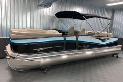 11' Powered Bimini of the 2021 Premier 250 Intrigue RF Tritoon Boat