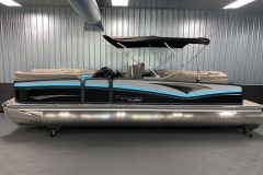 """25"""" Outer Logs of the 2021 Premier 250 Intrigue RF Tritoon Boat"""