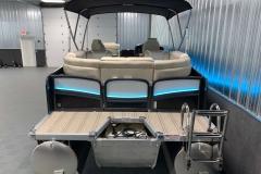 Rear Swim Platform of the 2021 Premier 250 Intrigue RF Tritoon Boat