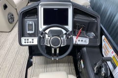 """Simrad 12"""" Touchscreen Display of the 2021 Premier 250 Intrigue RF Tritoon Boat"""