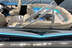 RGB Stern Lighting of the 2021 Premier 250 Intrigue RF Tritoon Boat