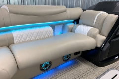 Lighted JL Audio Speakers of the 2021 Premier 250 Intrigue RF Tritoon Boat