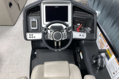 """12"""" Touchscreen Simrad Display of the 2021 Premier 250 Grand Majestic Tritoon Boat"""