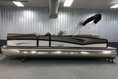 """25"""" Outer Logs of the 2021 Premier 250 Grand Majestic Tritoon Boat"""