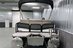 Rear Swim Deck of the 2021 Premier 250 Grand Majestic Tritoon Boat
