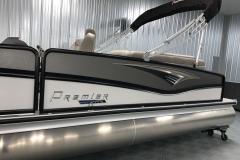 Midnight Black Rails on the 2021 Premier 250 Grand Majestic Tritoon Boat