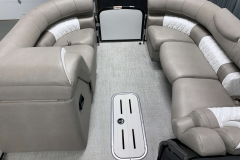 Interior Bow Layout of the 2021 Premier 250 Grand Majestic Tritoon Boat
