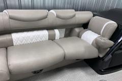 White Interior Accents on the 2021 Premier 250 Grand Majestic Tritoon Boat