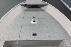 Spacious Bow Casting Platform of the 2021 Smoker Craft 14 TL Angler Fishing Boat