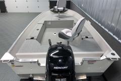 Interior Rear Layout of the 2021 Smoker Craft 14 TL Angler Fishing Boat