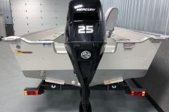 25HP Mercury Tiller Motor on the 2021 Smoker Craft 14 TL Angler Fishing Boat