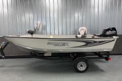 Shoreland'r Trailer of the 2021 Smoker Craft 14 TL Angler Fishing Boat