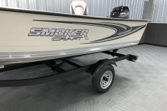 Sport Graphics on the 2021 Smoker Craft 14 TL Angler Fishing Boat