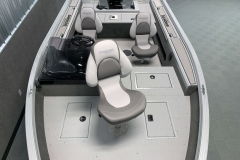 Interior Layout of the 2021 Smoker Craft 161 Pro Angler XL Fishing Boat
