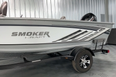 Standard Raised Chrome Logo of the 2021 Smoker Craft 161 Pro Angler XL Fishing Boat