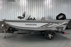 Standard Two-Tone Paint Scheme of the 2021 Smoker Craft 161 Pro Angler XL Fishing Boat