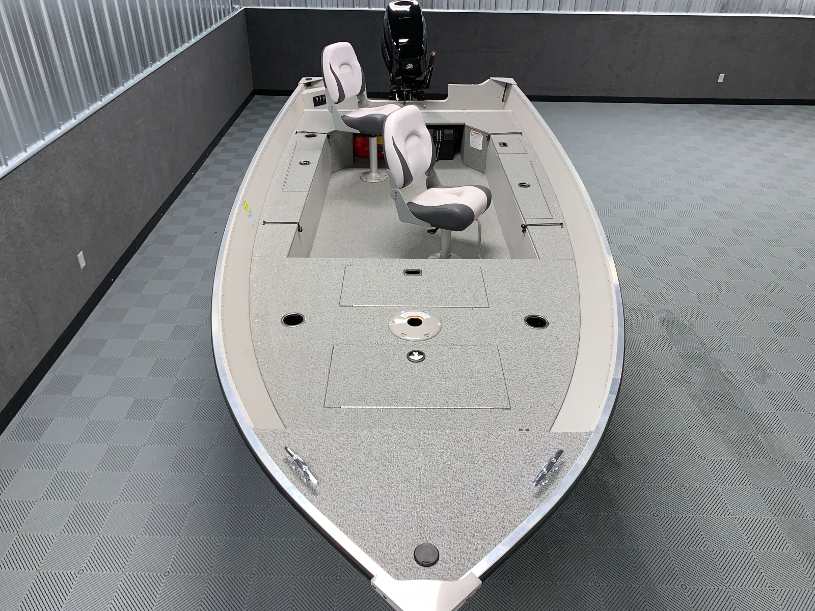 Interior Layout of the 2021 Smoker Craft 16TL Angler Fishing Boat