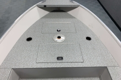 Spacious Bow Casting Platform of the 2021 Smoker Craft 16TL Angler Fishing Boat
