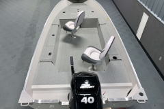Interior Rear Layout of the 2021 Smoker Craft 16TL Angler Fishing Boat