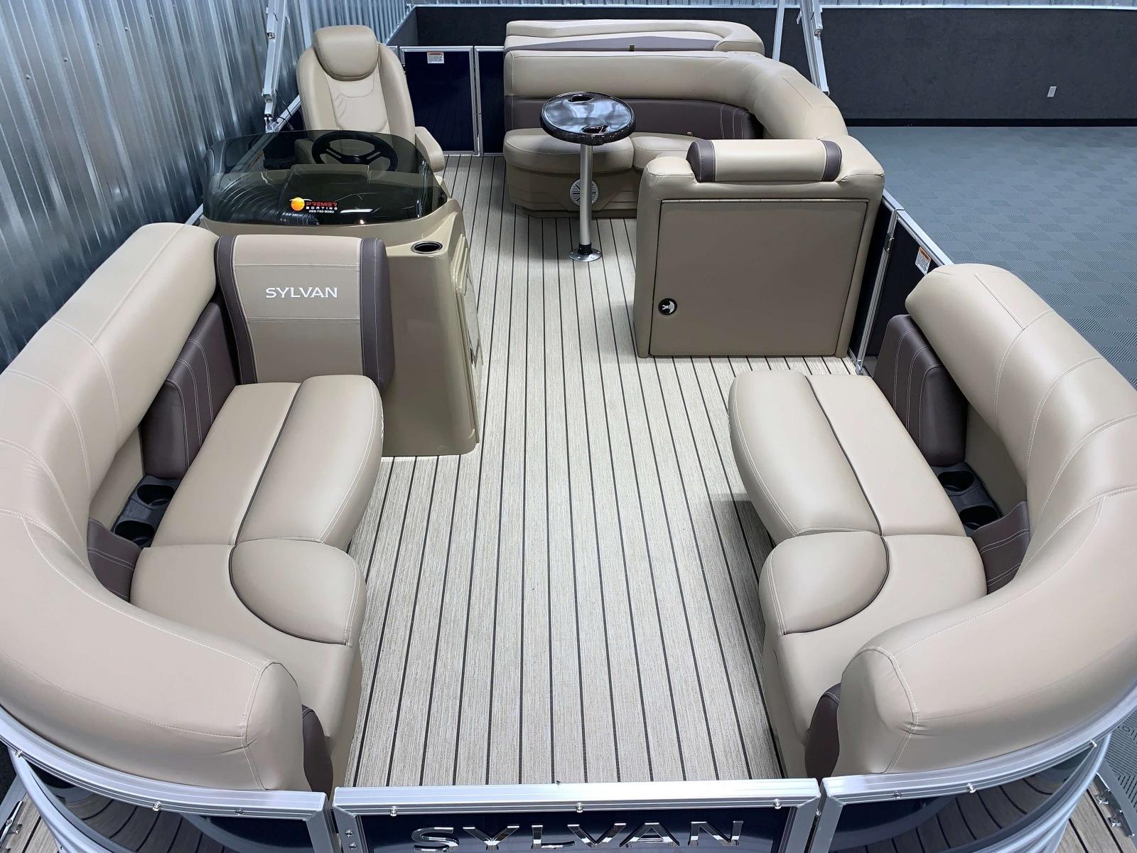 Interior Layout of the 2021 Sylvan Mirage 8520 Cruise Pontoon Boat