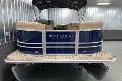Bow Swim Deck of the 2021 Sylvan Mirage 8520 Cruise Pontoon Boat