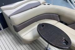 Rear Sun Pad/Storage of the 2021 Sylvan Mirage 8520 Cruise Pontoon Boat