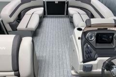 Interior Bow Layout of the 2021 Sylvan L1 Cruise Pontoon Boat