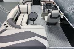 Rear Sunpad/Storage of the 2021 Sylvan L1 Cruise Pontoon Boat