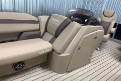 Helm Storage of the 2021 Sylvan L1 Cruise Pontoon Boat