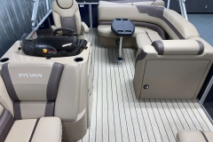 Interior Rear Layout of the 2021 Sylvan L1 Cruise Pontoon Boat