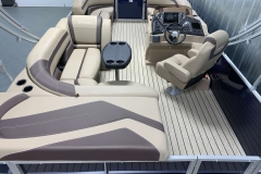 Rear Sunpad/Storage of the 2021 Sylvan L1 Cruise Pontoon Boat