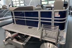 Stainless Steel Swim Ladder on a 2021 Sylvan Mirage 8520 Cruise Pontoon Boat