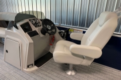 Redesigned Helm of a 2021 Sylvan Mirage 8520 Cruise Pontoon Boat