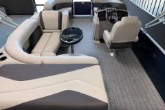 Interior Layout of a 2021 Sylvan Mirage 8520 Cruise Pontoon Boat
