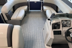 Interior Bow Layout of a 2021 Sylvan Mirage 8520 Cruise Pontoon Boat