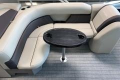 Wrap Around Seating on a 2021 Sylvan Mirage 8520 Cruise Pontoon Boat