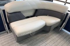 Grey Accented Interior on a 2021 Sylvan Mirage 8520 Cruise Pontoon Boat